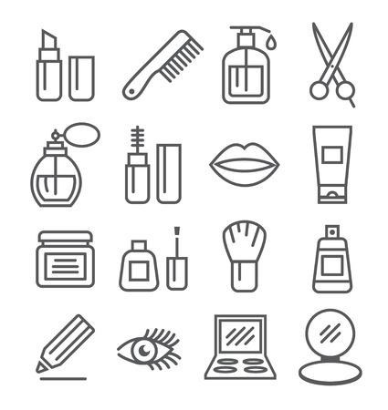 Icone linea di cosmetici Archivio Fotografico - 42789540