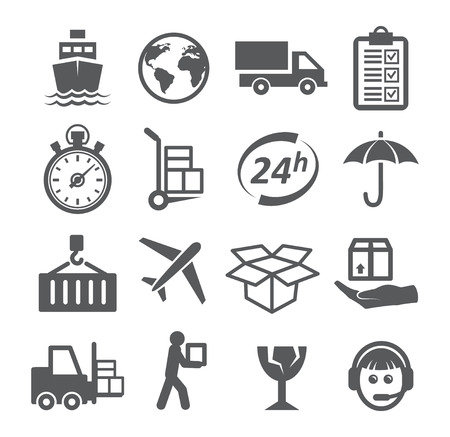 package printing: Shipping and Logistics Icons