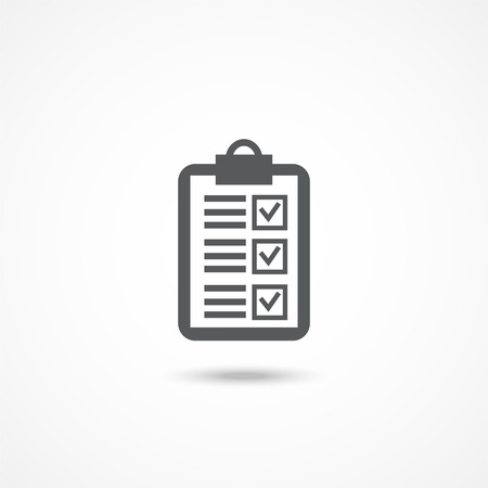 Gray Checkmark icon with shadow on white Illustration