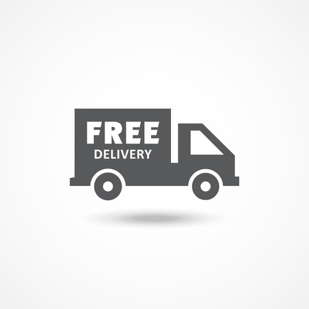 delivery icon: Free delivery icon on white background. Vector illustration.