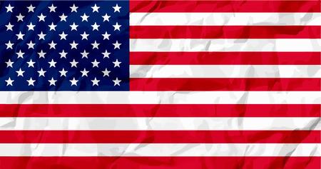vector raster background: USA flag Vector colorful illustration on white