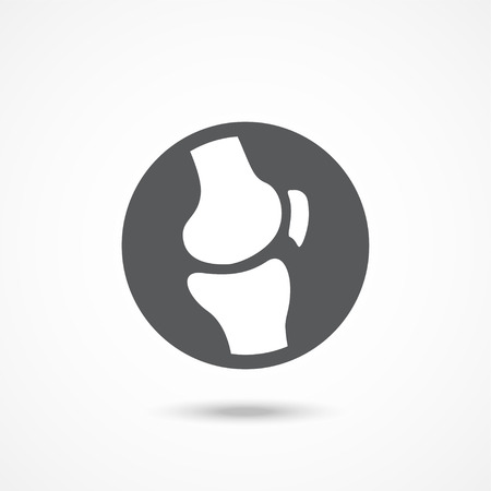 Knee joint icon Gray illustration on white