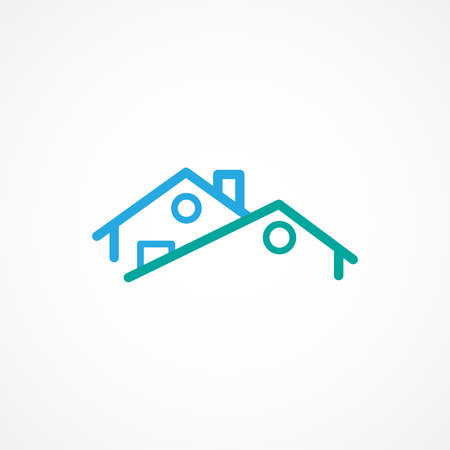 Real estate icon Illustration in trendy linear style