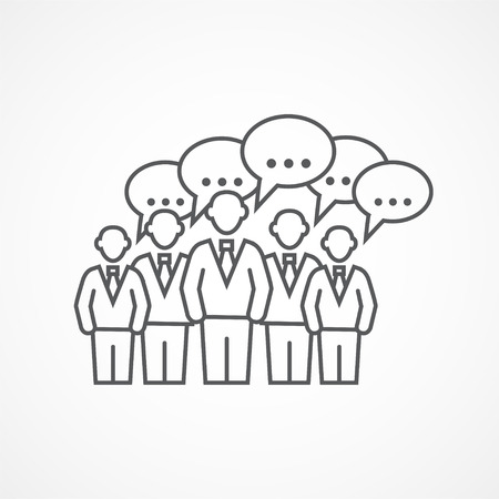 design drawing: Gray Business meeting icon on white background