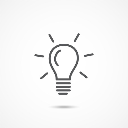 Gray Light bulb icon on white background