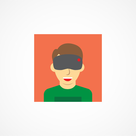 ar: Virtual reality icon on white background Illustration