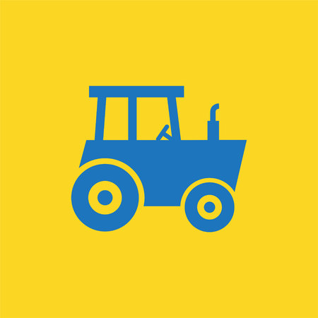 heavy duty: Tractor icon Illustration