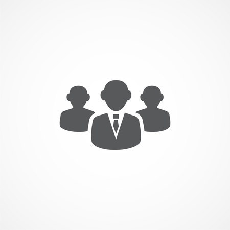 Gray Audience icon on white background Illustration