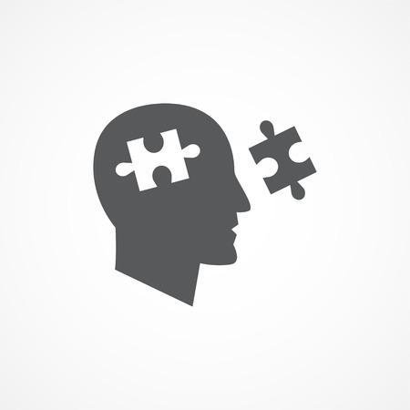 cognicion: Cognici�n gris icono en blanco Vectores