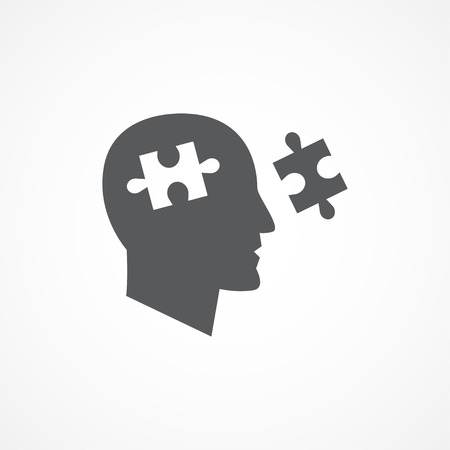 cognition: Gray Cognition icon on white