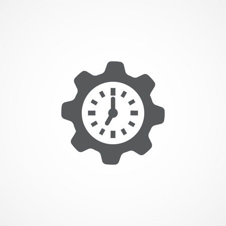 productivity system: Gray Productivity icon on white Illustration