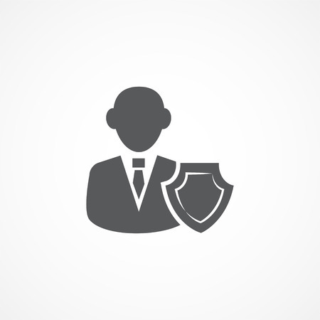 agents: Gray Agent Icon on white background