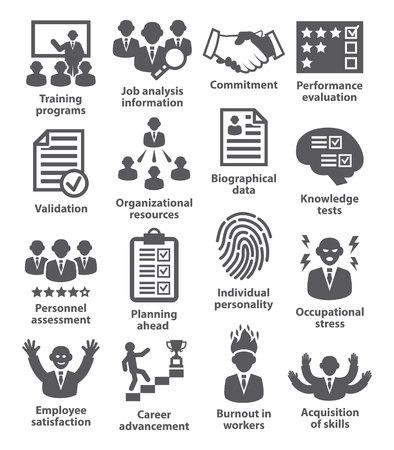 Iconos de la administración de negocios en blanco. Paquete de 23.