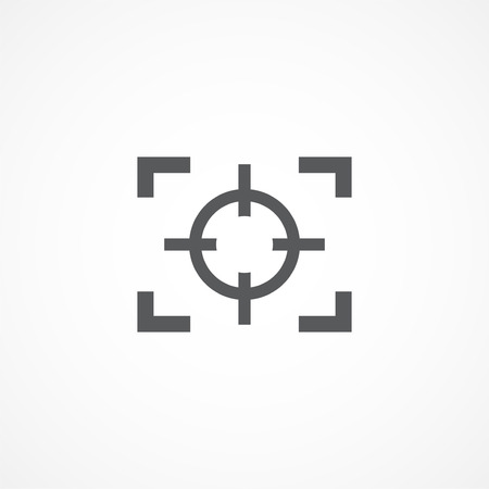peephole: Gray Focus Icon on white background Illustration