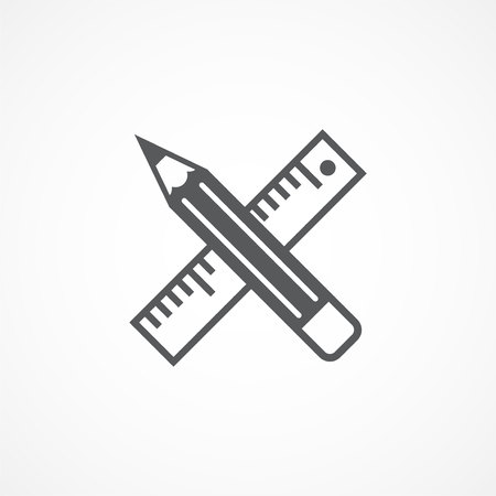 Gray Design tools icon on white background
