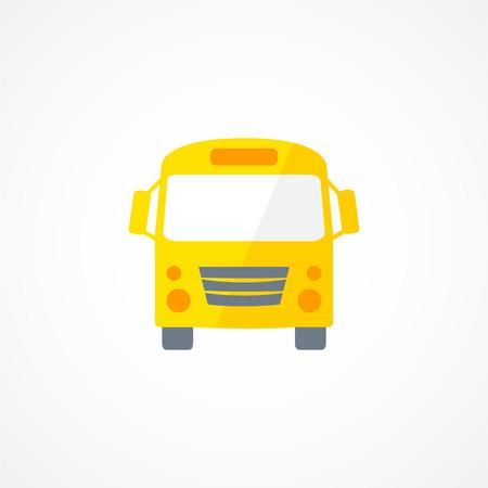 yellow schoolbus: School bus icon sign on wgite background