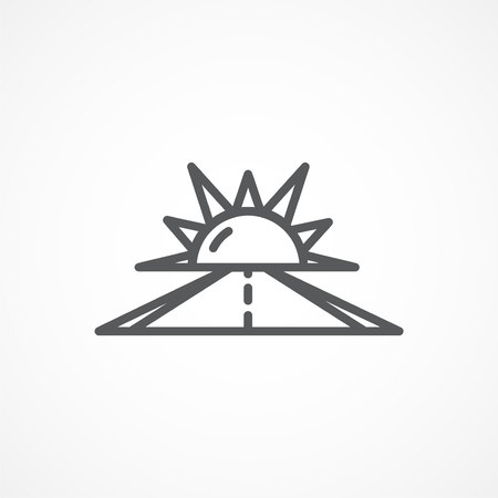 optimismo: Gray Optimism line icon on white background