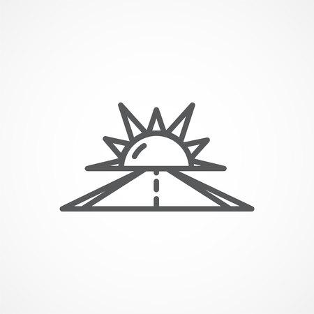 optimismo: Gris icono línea de optimismo en el fondo blanco