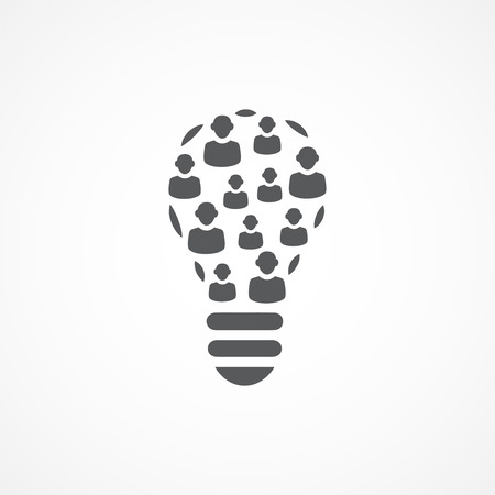 Gris icône Crowdsourcing