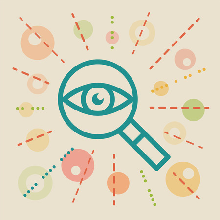 eyepiece: Overview. Concept business vector illustration Illustration