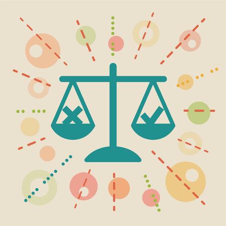 Ethics. Concept vector illustration