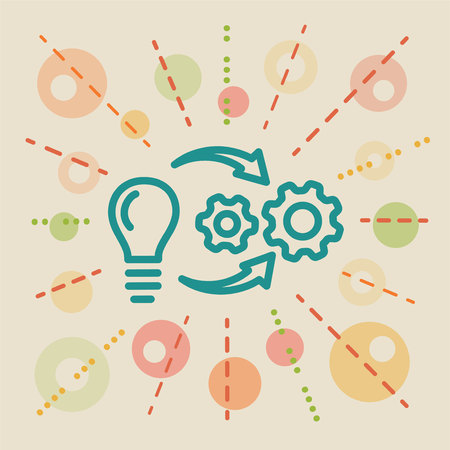 Implementation. Concept business illustration Illustration