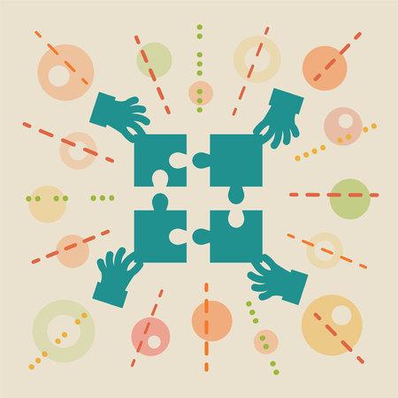 in common: Teamwork. Concept business illustration Illustration