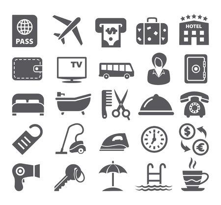 keycard: Hotel icons set