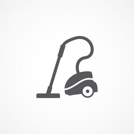 electric broom: Vacuum cleaner icon Illustration