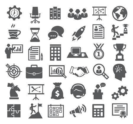 career management: Business icons. Management, marketing, career