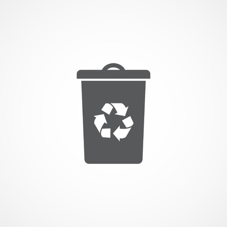 separation: Recycle bin icon Illustration