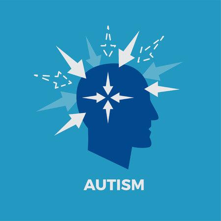 child care: Autism concept vector illustration Illustration