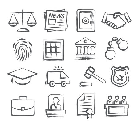 Law Doodle Icons