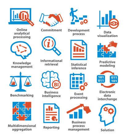 Business management icons. Pack 04. Illustration
