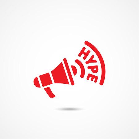 frenzy: Hype icon. Flat vector illustration on white Illustration