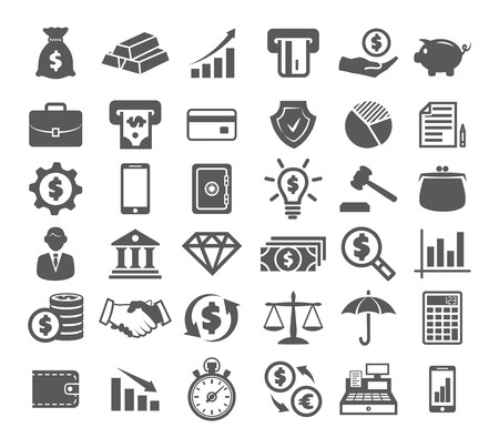 Finance Icons on white Фото со стока