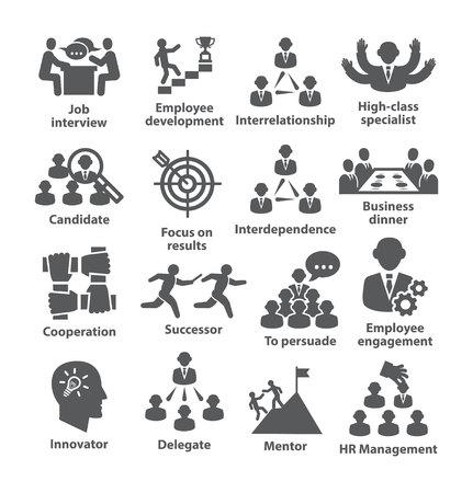 icônes de gestion de l & # 39 ; entreprise