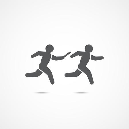 Relay race icon. Stock Illustratie