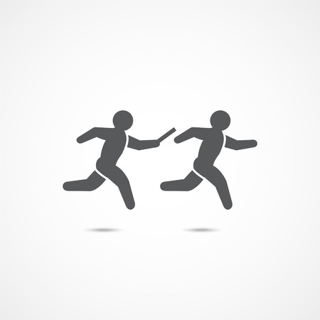 Relay race icon. Çizim