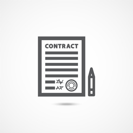 Contract Icon on white background.