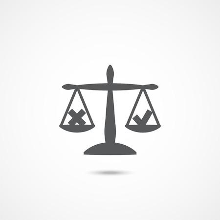 Ethics icon on white Illustration