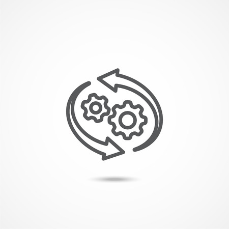 Workflow icon on white Illustration