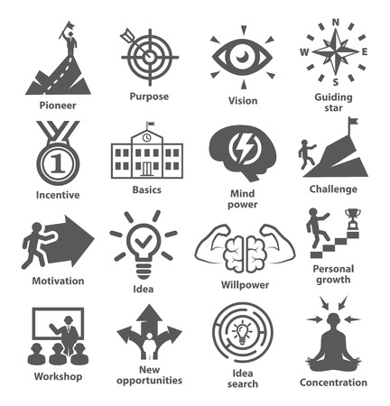 Business management icons Pack 41 Ilustrace