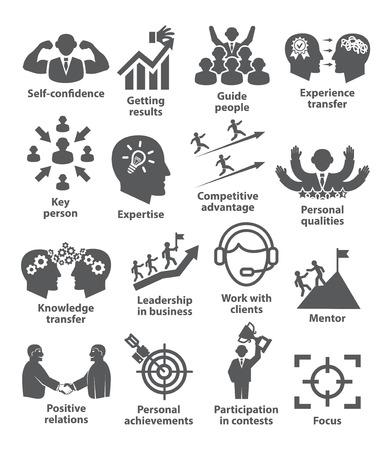 Iconos de gestión empresarial.
