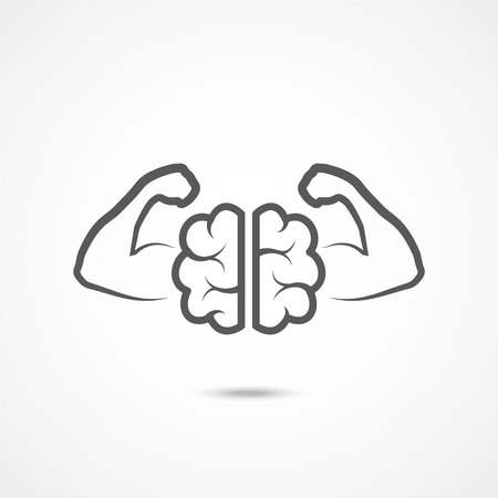 Will power icon on white background. Vector illustration. Vectores