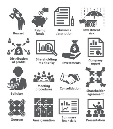 Business management icons Pack 43 Ilustrace