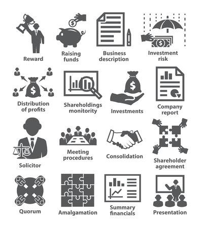 Pack d'icônes de gestion d'entreprise 43 Vecteurs