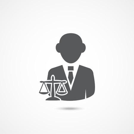 Lawyer icon on white Vektorové ilustrace