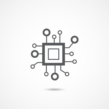 Icône de vecteur de processeur