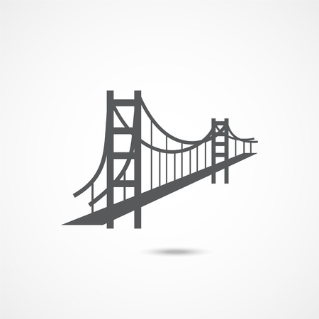 Golden Gate Bridge Icon 版權商用圖片